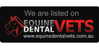 We're listed on  www.EquineDentalVets.com.au